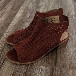 American Eagle Perforated Faux Suede Sandles